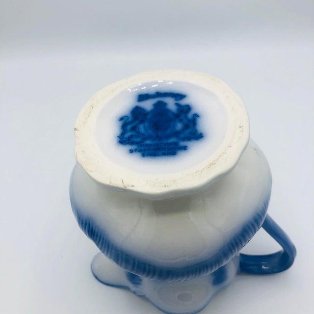 Antique Flow Blue Staffordshire Ironstone BlackBerry Pattern Pitcher For Sale In Nashville - Image 6 of 8