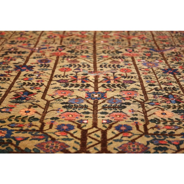 Late 19th Century Antique Tabriz Persian Tree of Life Rug - 5′ × 6′10″ For Sale - Image 5 of 10