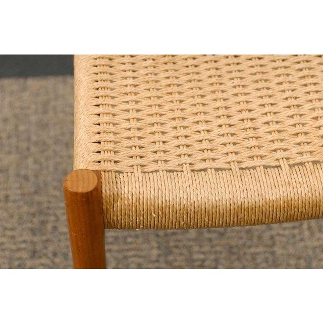 Tan Stellar Original Set of Eight Moller #75 Chairs in Teak For Sale - Image 8 of 10