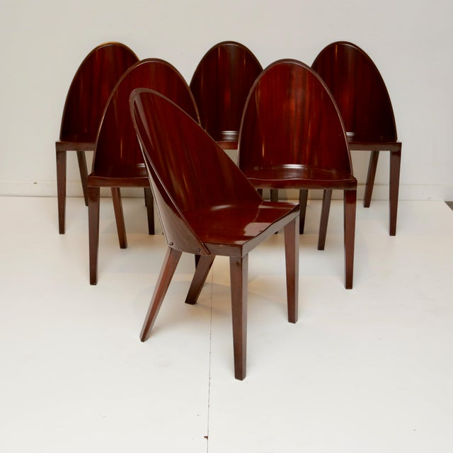 Brown Philippe Starck Royalton Mahogany Dining Chairs - Set of 6 For Sale - Image 8 of 8