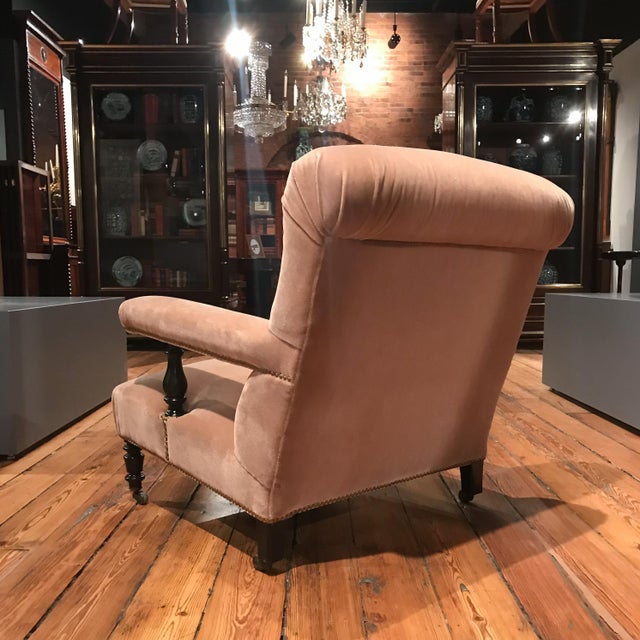 19th Century 19th Century French Mohair Upholstery Armchairs- a Pair For Sale - Image 5 of 10