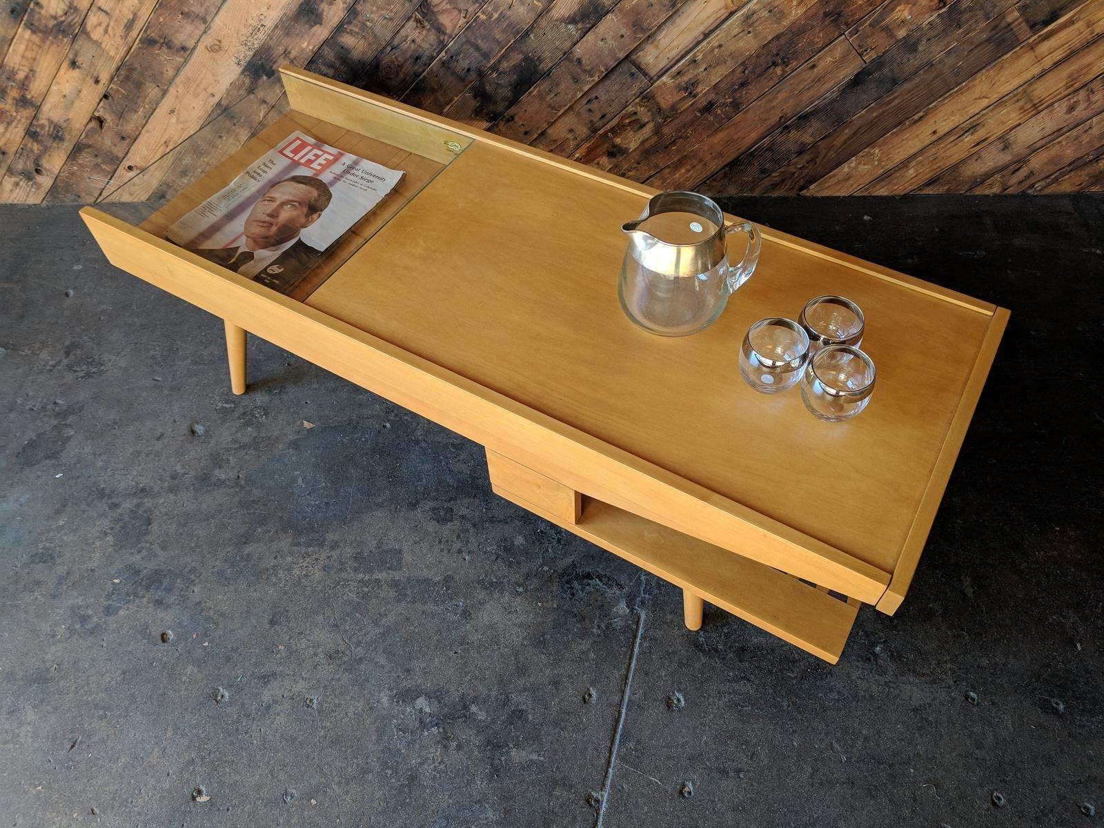 Attirant Amazing Mid Century Coffee Warmer Table By Brown Saltman   Image 5 Of 9