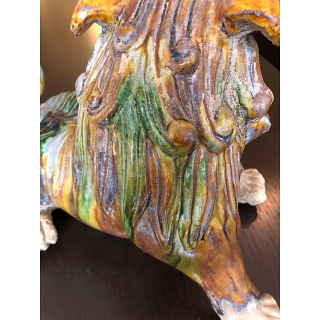 1950s Chinese Eye Catching Vintage Foo Dog Sculptures - a Pair For Sale - Image 11 of 13