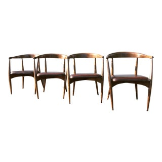 Lawrence Peabody Dining Chairs - Set of 4 For Sale