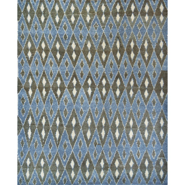 Contemporary Handwoven Turkish Wool Rug For Sale In Los Angeles - Image 6 of 6
