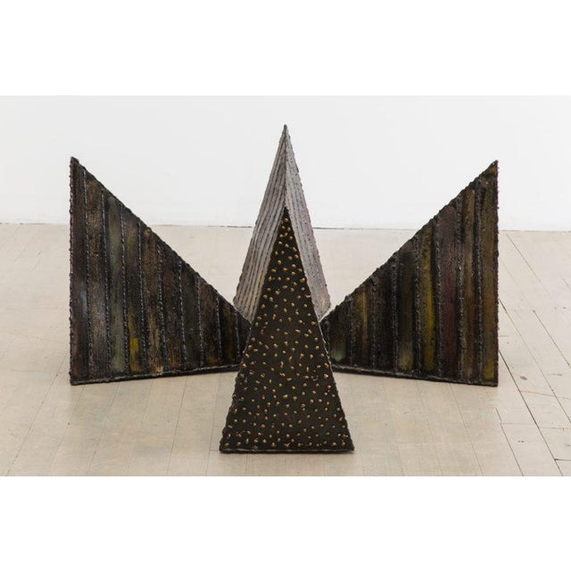 Brutalist Paul Evans, Welded Steel Coffee Table, USA, 1970s For Sale - Image 3 of 7