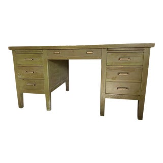 Mid-Century Modern Painted Partner Desk For Sale