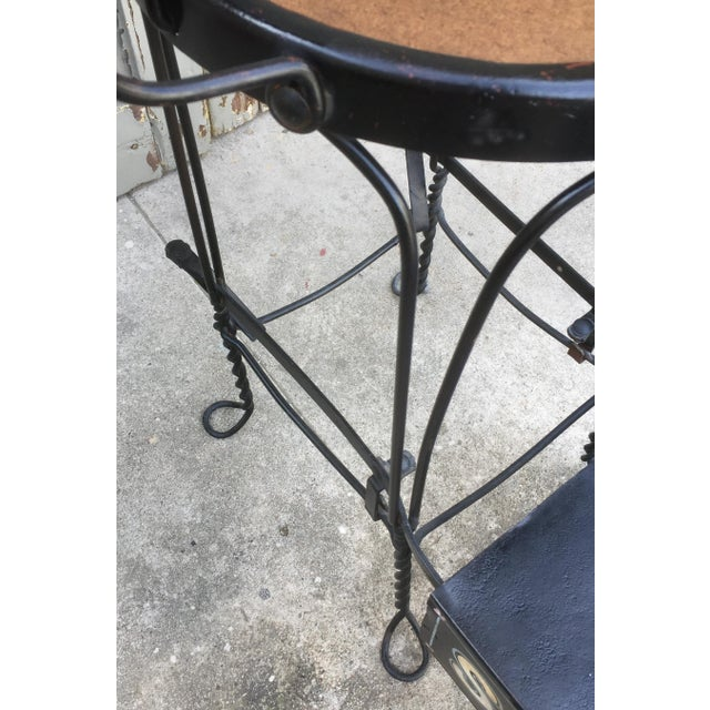 Antique Twisted Iron Shoe Shine Stand For Sale - Image 4 of 7