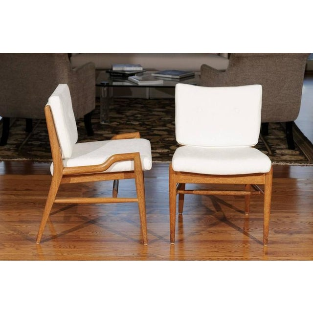 Chic Restored Set of Eight Cerused Mahogany Dining Chairs by John Keal For Sale - Image 10 of 11