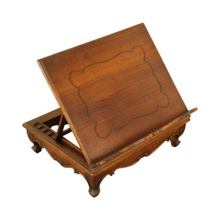 Italian Provincial Vintage Walnut Table Top Bible, Book Stand For Sale