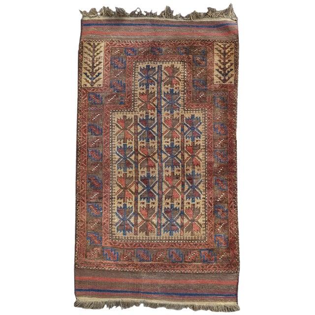 Baluch Prayer Rug - 3′ × 4′5″ For Sale