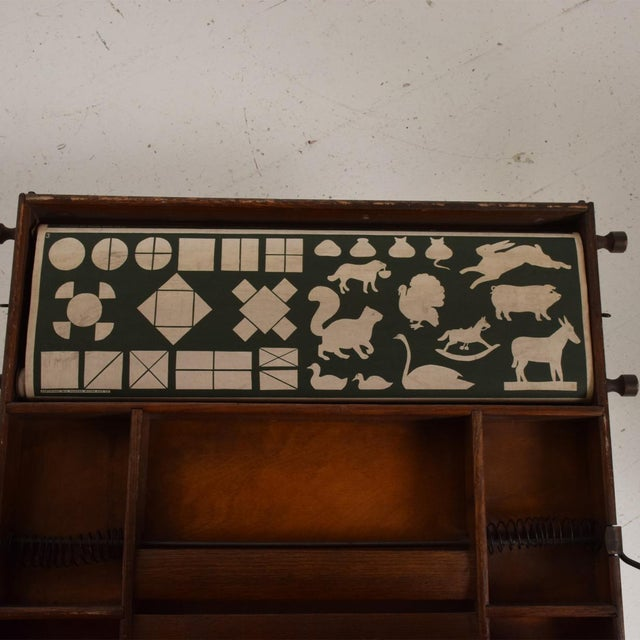 Antique Chautauqua Industrial Art Desk Lewis E. Myers & Company For Sale In San Diego - Image 6 of 11