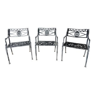 1960's Aluminum Dolphin Chairs- Set of 3 For Sale