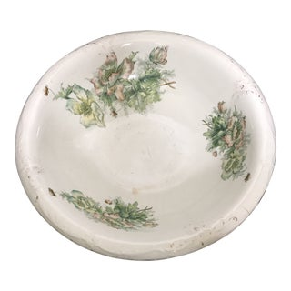 1900s Antique American Porcelain Wash Basin For Sale