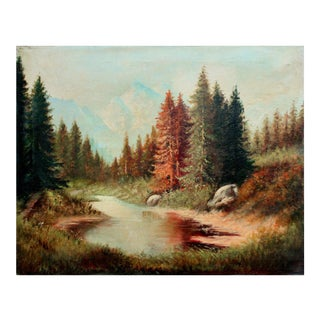 """""""Reflecting Redwoods"""" Painting"""