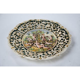 Italian Capodimonte-Style Figural Charger Plate Signed Ardalt Preview