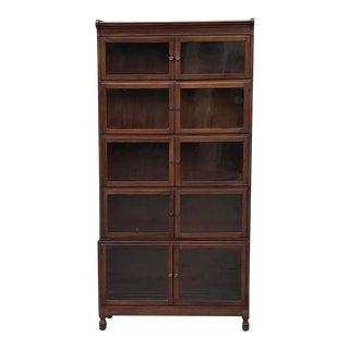 Antique English Mahogany Bookcase For Sale