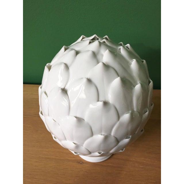 White Porcelain Artichoke Sculpture For Sale - Image 4 of 6
