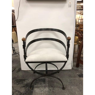 Vintage Mid Century Adrian Pearsall Iron and Suede Side Chair Preview