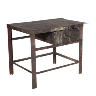 Rustic Industrial Workbench For Sale