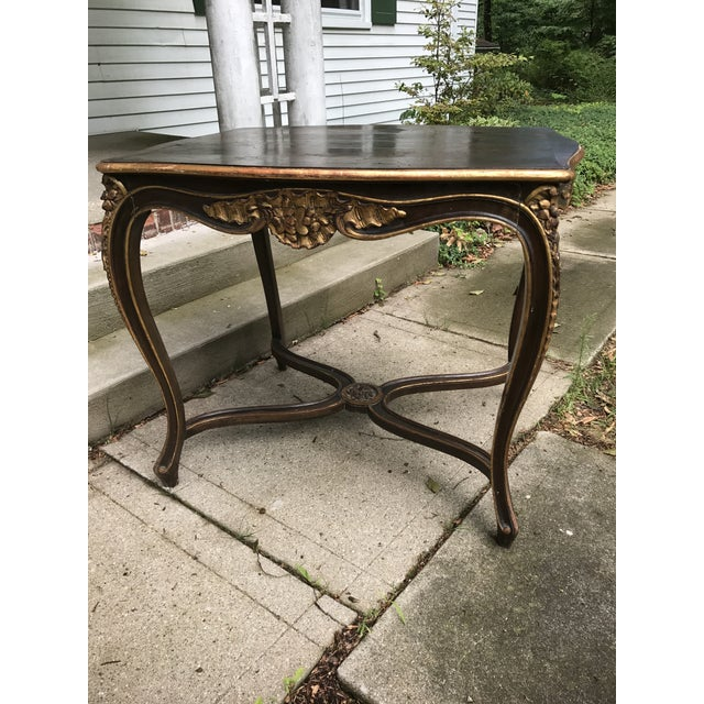 French Antique Louis IV French Rococo Console Entry Table For Sale - Image 3 of 11