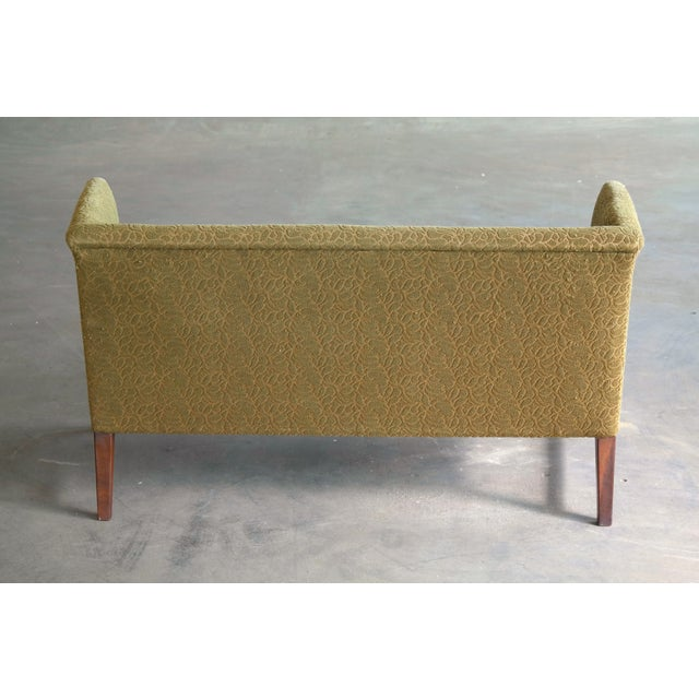 1930s Kaare Klint Style Danish Settee in Mahogany Attributed to Georg Kofoed For Sale - Image 10 of 12