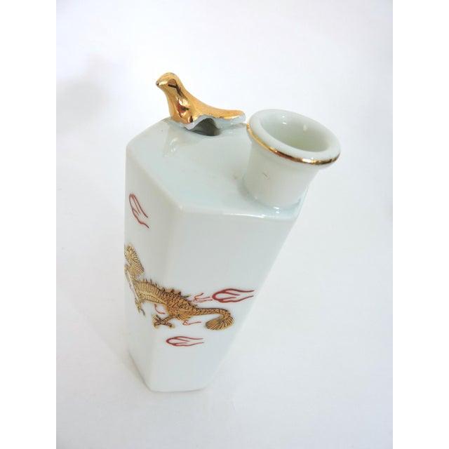 Japanese Gold Dragon 'Whistling' Porcelain Sake Flask/Decanter For Sale In Tampa - Image 6 of 9