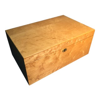 Birdseye Maple Wood Cigar Humidor with Cedar Lining For Sale