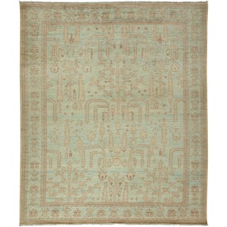 "Turkish Oushak Hand Knotted Area Rug - 8' 3"" X 9' 10"" For Sale"