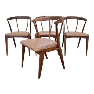 Mid-Century Modern Danish Modern Walnut Wishbone Dining Chairs - Set of 4
