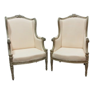 Original Finish Gustavian Gold Bergers - a Pair For Sale