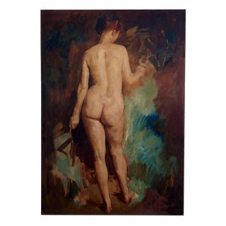 Early 20th Century Large Nude Oil Painting by William Frederick Foster For Sale