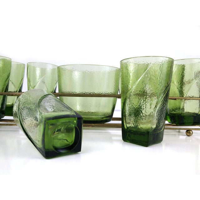 Vintage Bar Caddy With Ice Bucket - Set of 9 For Sale - Image 4 of 6