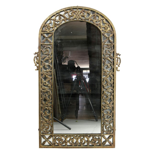Metal Oscar Bach Bronze Wall Mirror For Sale - Image 7 of 8