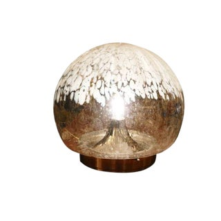 Mazzega Modernist Globe Table Lamp For Sale