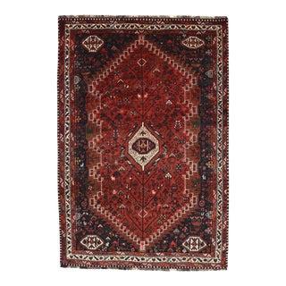 Vintage Persian Shiraz Rug - 6'2'' X 8'11'' For Sale