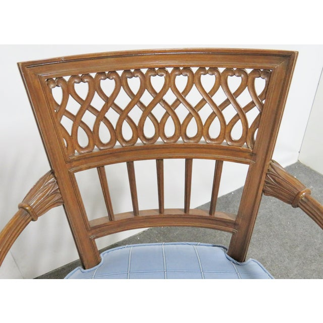 Early 20th Century Italian Style Carved Fruitwood Arm Chair For Sale - Image 5 of 7