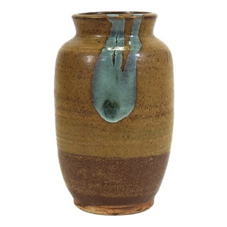 Mid-Century Modern Glazed Studio Pottery Vase For Sale