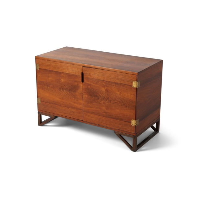 Scandinavian Modern Svend Langkilde Cabinet in Rosewood and Brass - 1950 For Sale - Image 11 of 11