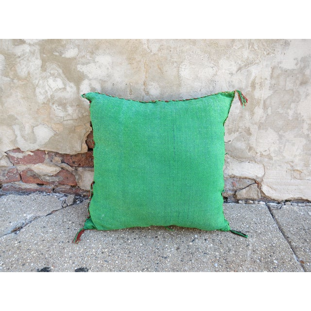 Boho Chic Moroccan Sabra Cactus Silk Pillow For Sale - Image 3 of 3