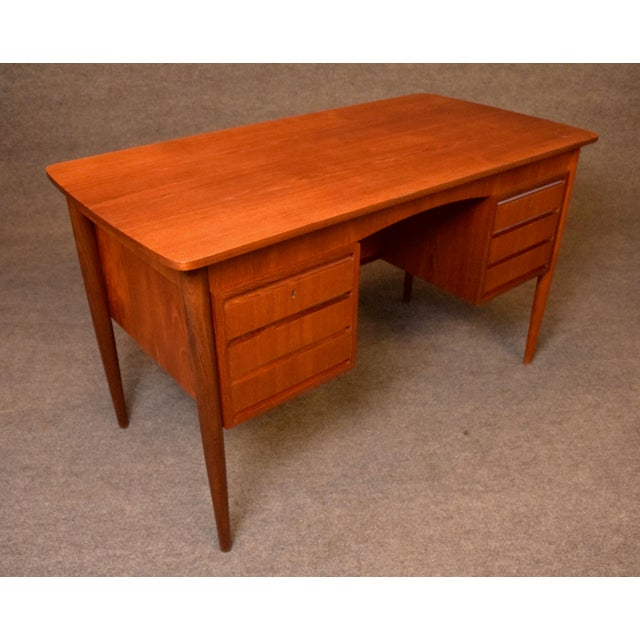 d7df62e667c1f Here is a beautiful 1960 s scandinavian modern writing desk in teak wood  recently imported from Denmark. Mid-Century Modern Vintage ...