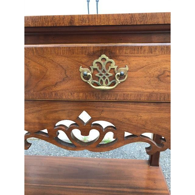 Brown Baker English Style Inlaid Console Table For Sale - Image 8 of 10