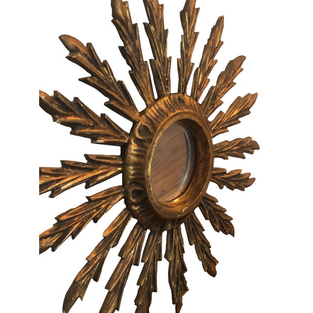 Mid 20th Century Mid Century French Giltwood Sunburst Mirror For Sale - Image 5 of 7