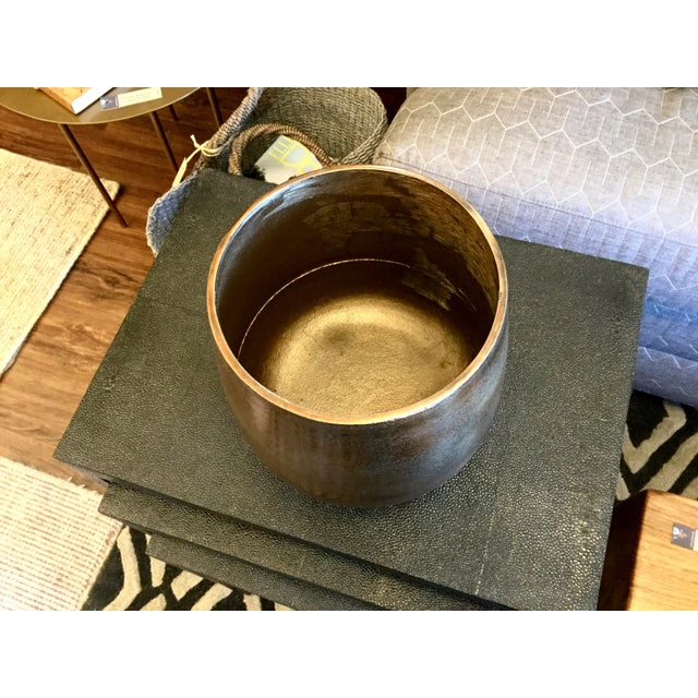 Large Bronze Colored Cache Pot - Image 4 of 6