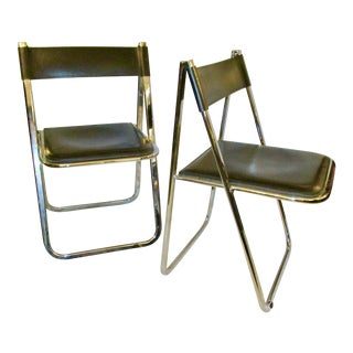 Arrben Mid-Century Modern Tamara Italian Folding Chairs - a Pair For Sale