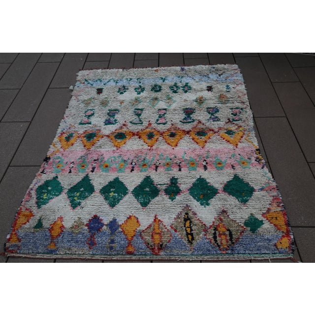 Islamic Moroccan Rug - 6′ × 8′2″ For Sale - Image 3 of 7