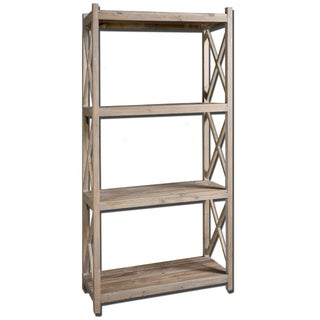 Reclaimed Wood Etagere For Sale