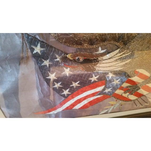 World War I Embroidered Souvenir American Eagle Flag - Image 3 of 8