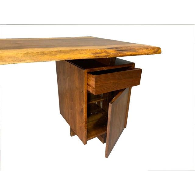George Nakashima Large Conoid Writing Desk For Sale - Image 9 of 13