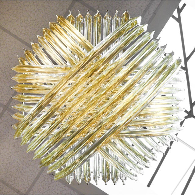"Customizable Murano Glass ""Curve"" Chandelier For Sale - Image 10 of 10"